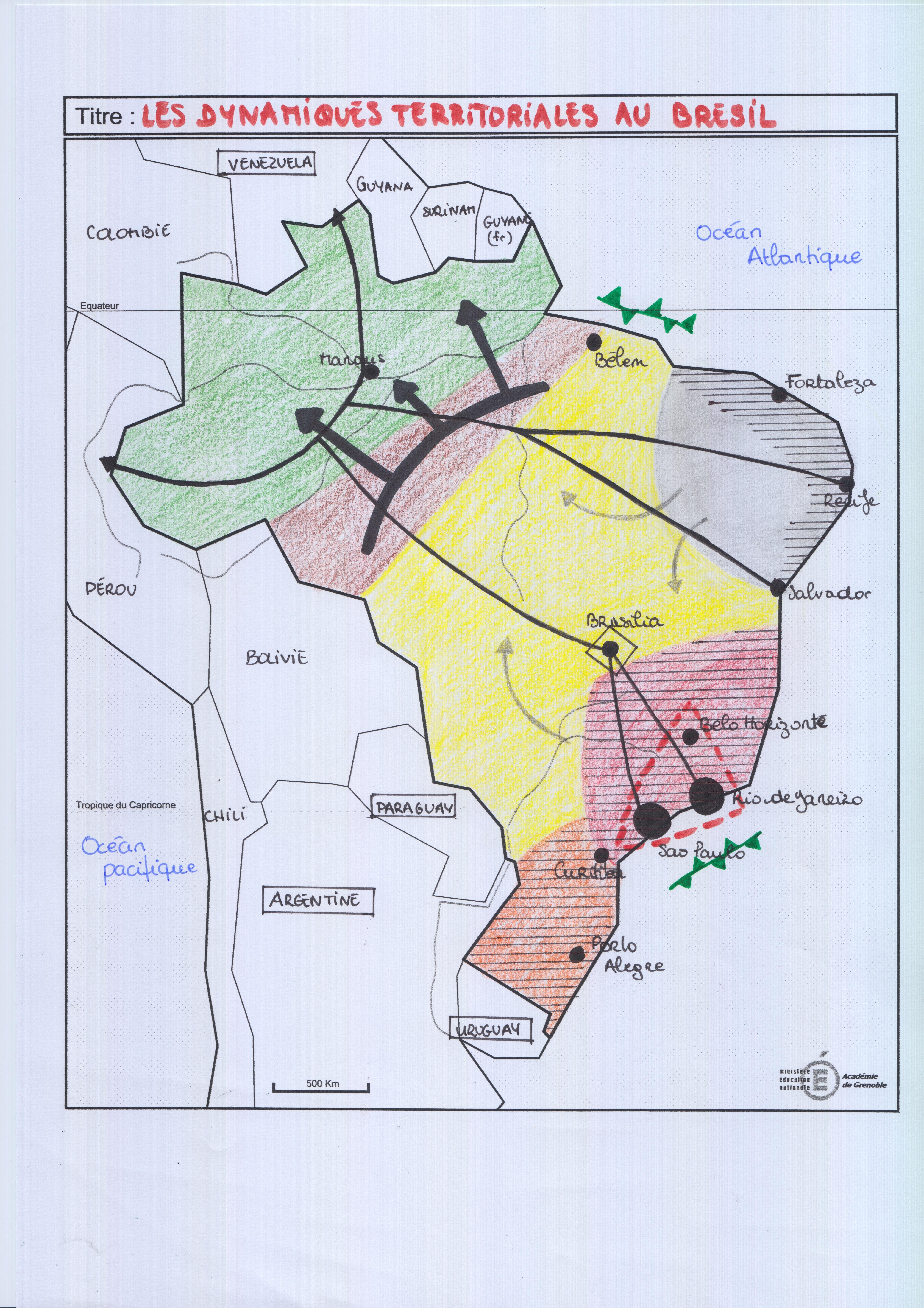 Carte Bresil Terminale Es Vierge.Geographie Terminale